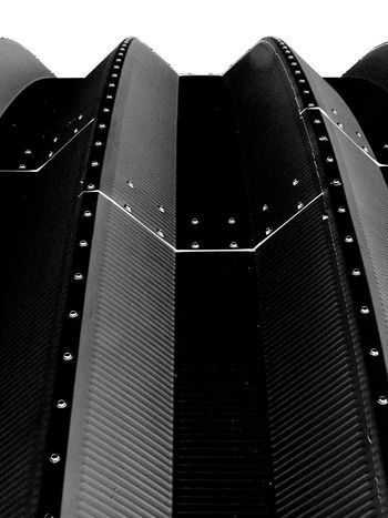 WOW Black Contrast CURVEDD ROOF Factory Industrial Building  Metal Building Rivets Seams The Week On EyeEm White Sky Accent Close-up Day Film Industry Low Angle View No People