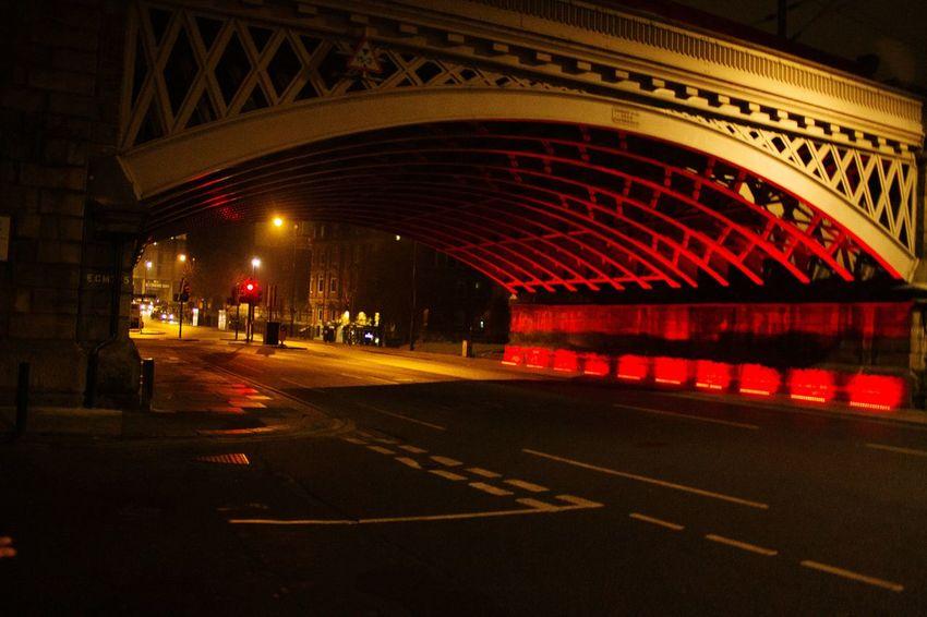 Newcastle bridge Nightphotography City Bridge - Man Made Structure Newcastle Night Lights Night Rojo Sangre Noche Oscuro The Architect - 2017 EyeEm Awards