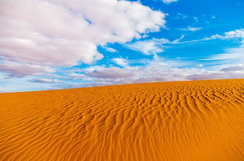 Arid Climate Beauty In Nature Blue Climate Cloud - Sky Desert Environment Horizon Horizon Over Land Land Landscape Nature No People Non-urban Scene Outdoors Sand Sand Dune Scenics - Nature Sky Tranquil Scene Tranquility