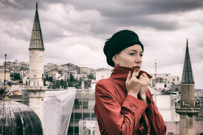 Urban Skyline Cityscape Arts Culture And Entertainment Istanbul Creativity Headshot Turkey Historical Building Human Face Portrait Of A Woman Portrait Colors Color Portrait My Year My View