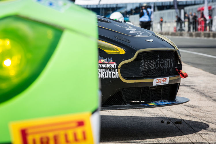 Academy Motorsport Aston Martin British Gt Car Close-up Colour Day Land Vehicle No People Outdoors Pit Lane Racing Silverstone Text