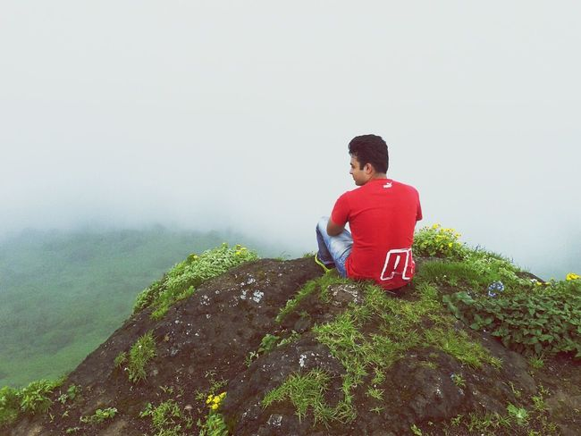 Capturing Freedom Relaxing Alone Nature Mountains Trekking Flowers Happiness Clouds Cliff