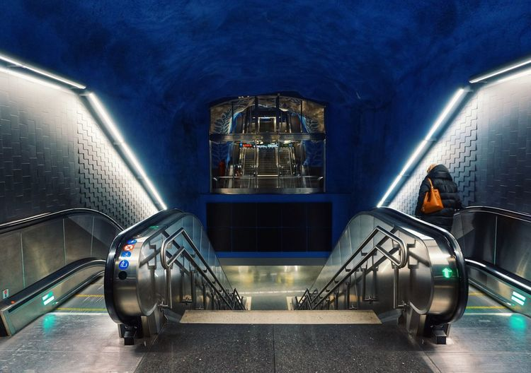 2019 Niklas Storm April Illuminated City Full Length Architecture Stairway Steps Escalator Hand Rail Railing Subway Station Steps And Staircases Stairs My Best Photo