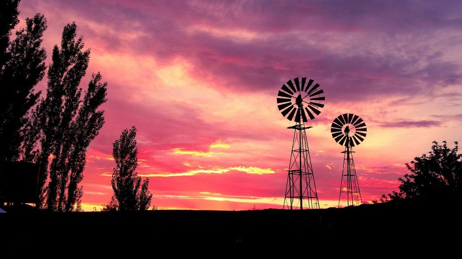 Sunset windmills Karoospaces Landscape_photography Windmills Landscape_photography Sunsets Clouds Canonphotography First Eyeem Photo