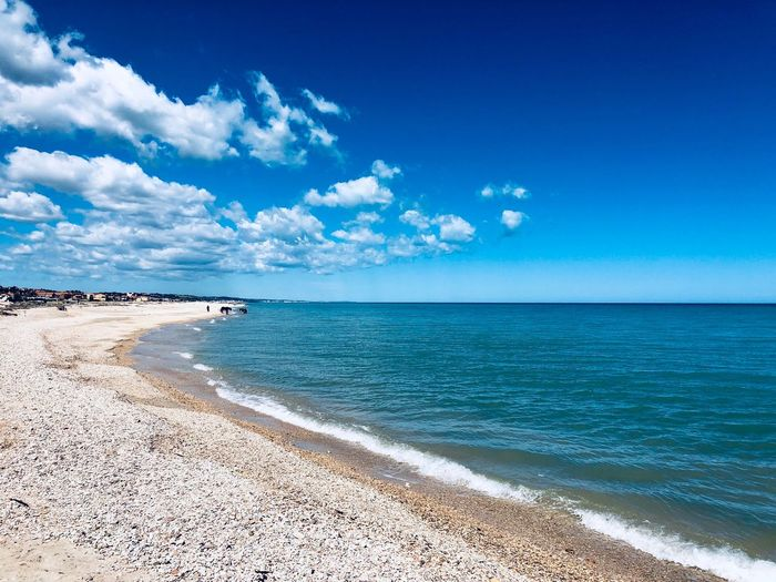 Sea Sky Water Beach Blue Scenics - Nature Beauty In Nature Horizon Over Water Land Tranquil Scene Horizon Tranquility Cloud - Sky Sand No People Idyllic Nature Day Sunlight Turquoise Colored