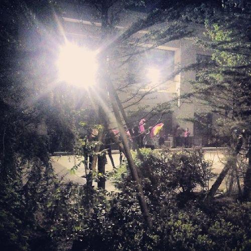 Qingdao Huangdao Zhushanwenyuan 广场舞 china 夜