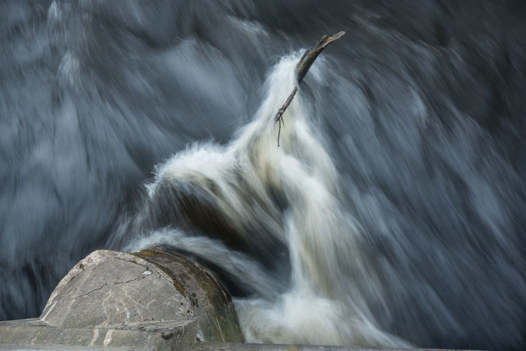 Blurred motion of waterfall