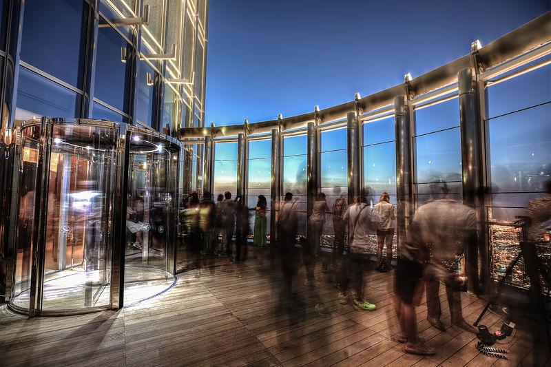 Blurred Motion Of People At Burj Khalifa