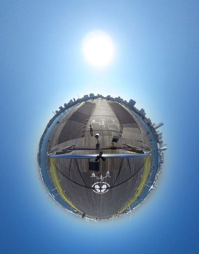 今日は生憎の天気ですが。 I ❤️ Yokohama. Theta360 Theta Clear Sky Blue Sky Little Planet Blue Earth Landscape Cityscapes Super Wide Angle 広角機動隊 EyeEm Best Shots - Landscape EyeEm Best Shots Snapshot Taking Photos Walking Around お写ん歩