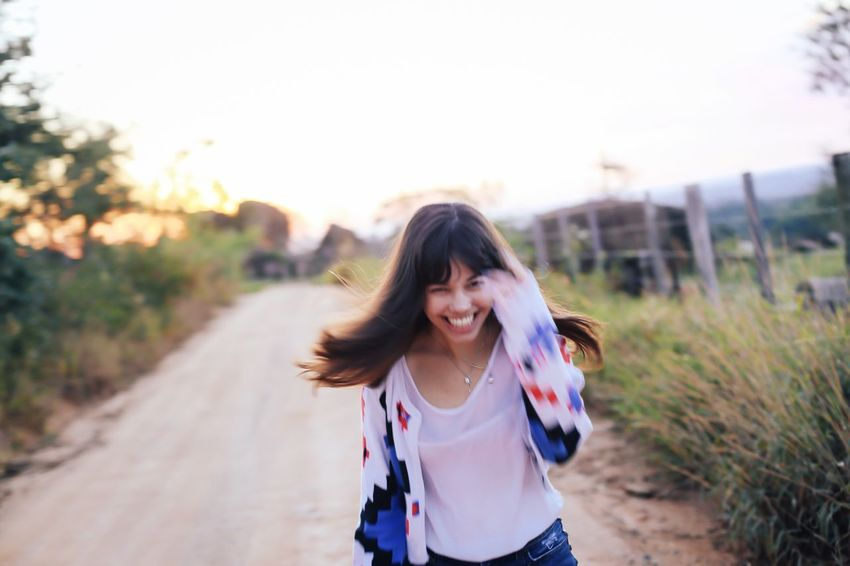 Enjoy The New Normal We are always looking for those authentic, real, normal moments. Real People Leisure Activity Smiling Happiness Portrait Bliss Cheerful Joy Running Authentic Moments Outdoors Blurred Motion Blur Real Candid Portrait Of A Woman Funny Happy Happiness