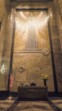 Reception Receptionist Reception Hall Empire State Building Indoors  Illuminated Day Architecture