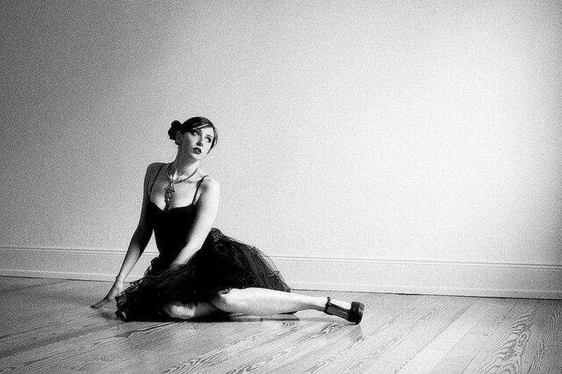 Monochrome Ballerina Portrait Blackandwhite