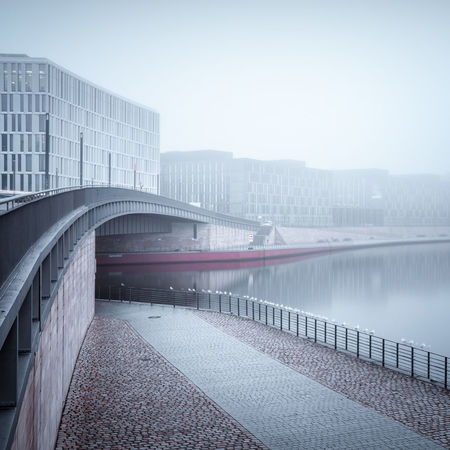 Downtown district Berlin clouded in thick fog Architecture Berlin Berlin City Berlin Cityscape Berlin Mitte Bridge - Man Made Structure Business Finance And Industry City Day Downtown District Foggy Morning Germany Hauptbahnhof Berlin Hugo-preuß-bridge Long Exposure Misty Morning Modern Modern Architecture No People Office Building Outdoors Seagulls In A Row Spree River Berlin Urban Landscape Discover Berlin