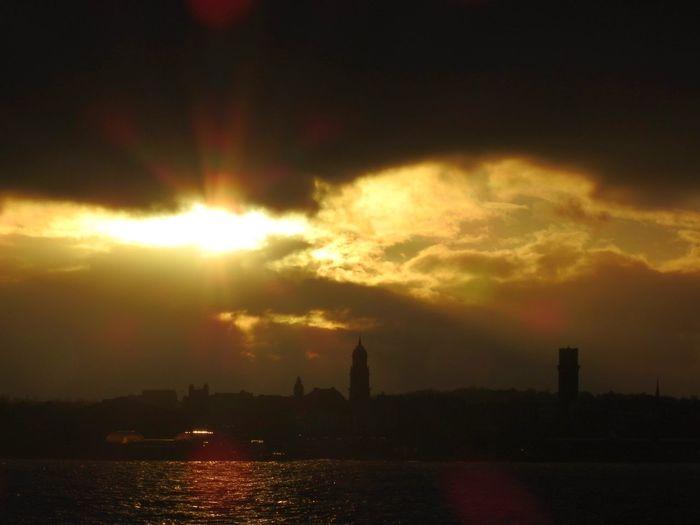 City Cityscape Urban Skyline Sunset Water Awe