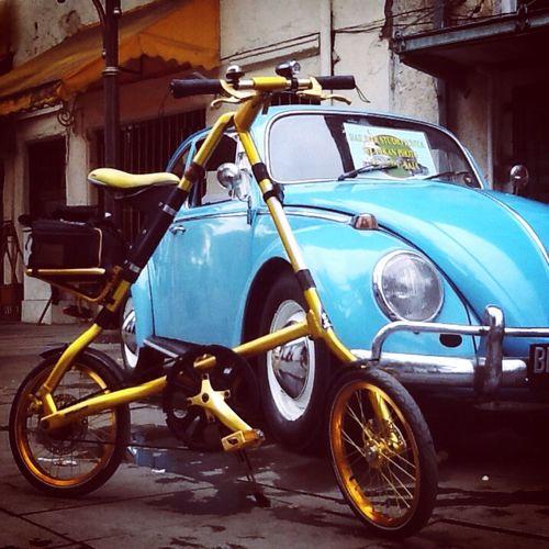 Strida with VW Enjoying Life
