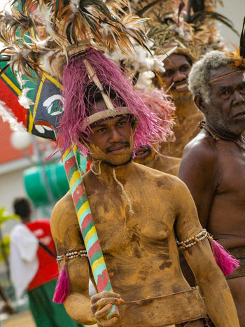 Malakula Island (coordinates 16.30°S 167.50°E), also spelled Malekula, is the second-largest island in the nation of Vanuatu, in the Pacific Ocean region of Melanesia. Arts Culture And Entertainment Celebration Cultures Dancers Day Headdress Malakula Island Melanesia Men Multi Colored Outdoors Pacific People Performance Performing Arts Event Real People Tourism Tourist Attraction  Traditional Clothing Travel Travel Destinations Vivid International