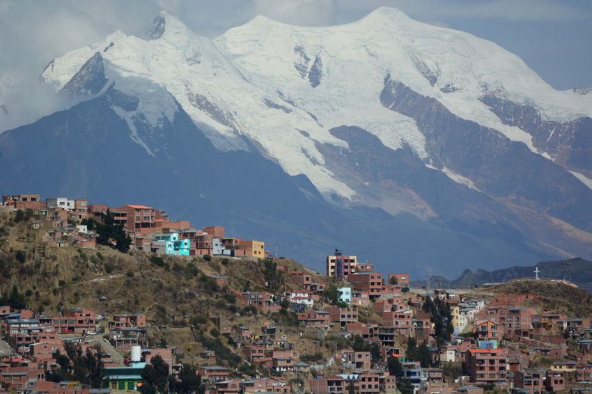 Illimani mountain over La Paz. Bolivia Altitude Andes Andes Mountains Bolivia Capital Cities  City Cityscape Eyeem Bolivia La Paz, Bolivia Landscape Mountain Nature Outdoors Snow Mountain Southamerica Travel Travel Destinations Urbanization
