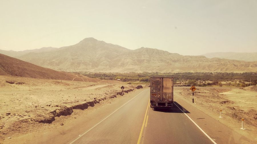 Truck in the Andes EyeEm Selects Road No People Day Mountain Outdoors Military Sky Politics And Government Peru First Eyeem Photo Landscape Vintage Vintage Photography Andes