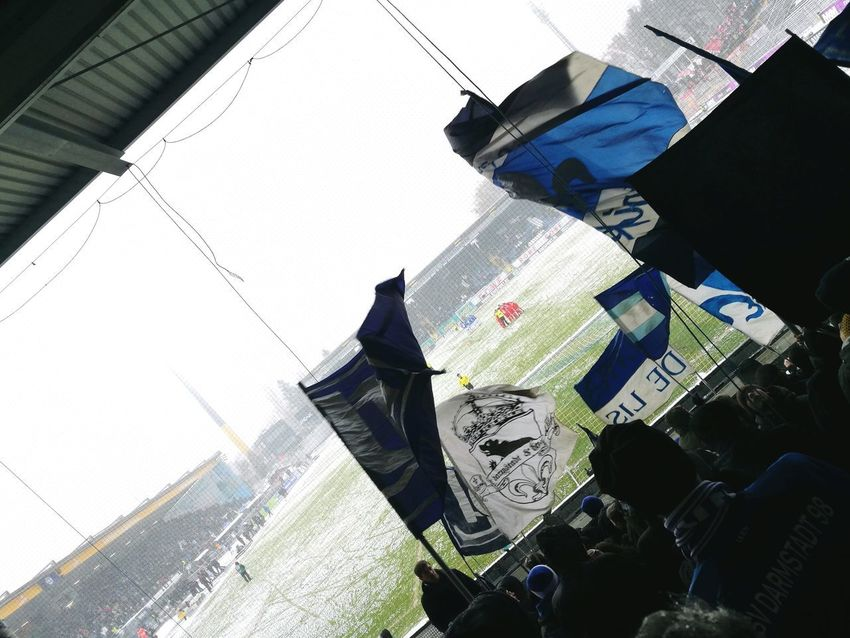 SV Darmstadt VS Regensburg in Snow ⚽⚽ Football Fussball Svd SVD 98 Snow Snowfootball Football Stadium Böllenfalltor Flag A Lot Of People Big Group Fans Supporters Supporting My Team 2. Bundesliga Bundesliga Day Shadow Outdoors No People City Close-up