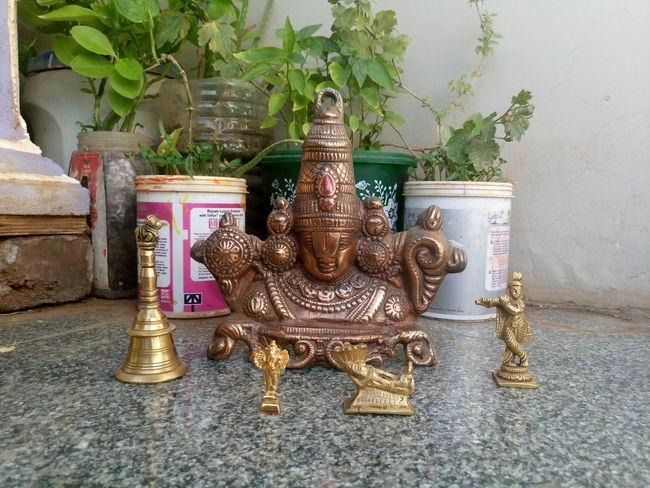 God's Beauty Lord Balaji Lord Krishna Lord Ganapati Lord Vishnu Bell Green Recycle Paint Buckets Nature_collection Sony Xperia M5 The Street Photographer - 2016 EyeEm Awards Fine Art Photography