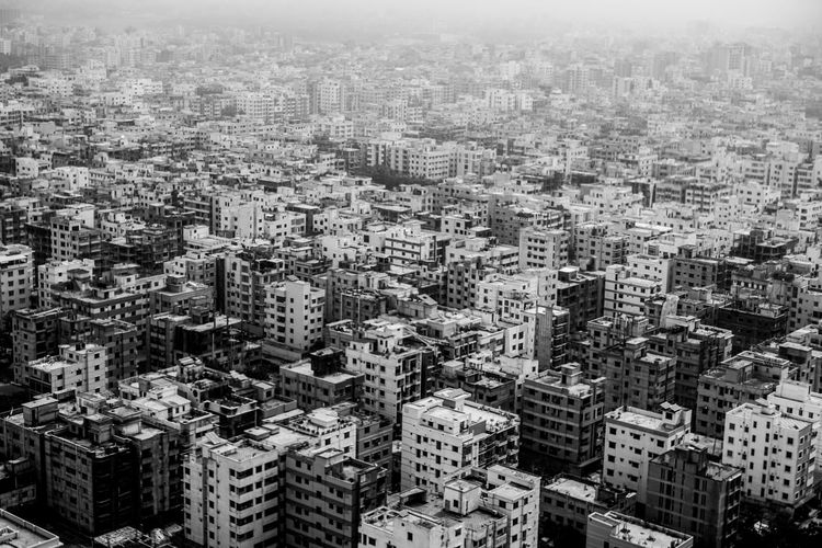 Buildings-aerial view in monochrome. Aerial Shot Aerial View Artsy Beautiful Buildings Cityscape Dhaka Pattern Pattern, Texture, Shape And Form The Architect - 2016 EyeEm Awards Urban Urban Geometry Feel The Journey Fine Art Photography