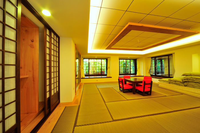 Warm living space, comfortable and beautiful, enjoy a better way of life, Japanese and room, fresh and elegant Home Japanese-style Lifestyle Architecture Building Built Structure Ceiling Day Decoration Domestic Room Empty Home Interior Home Showcase Interior Illuminated Indoors  Interior Design Living Room Modern No People Surroundings Window Yellow