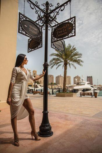 The Pearl, Doha Doha,Qatar Qatarlife Sea Sea And Sky Girl Woman Woman Portrait Fitnessmodel People Watching Lifestyle Bekkerfilms Taking Pictures Sky Toilette Art 2016 Hello World Sunshine Beautiful Freedom Enjoying Life Harbour Friday Portfolio Water
