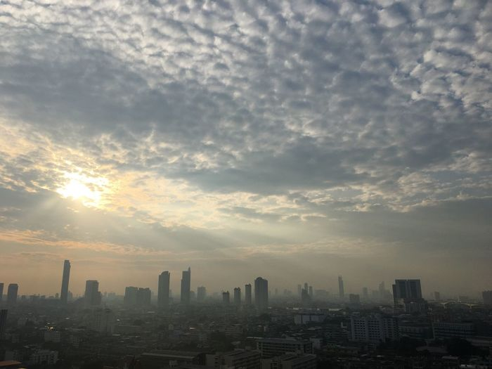 #sun #sky #cloud #beautifulnature #Nature  #EyeEmSelects #Thailand #Bangkok #Sunrise Building Exterior Cloud - Sky Architecture Sky City Built Structure Cityscape Building Nature Skyscraper No People Landscape Outdoors City Life