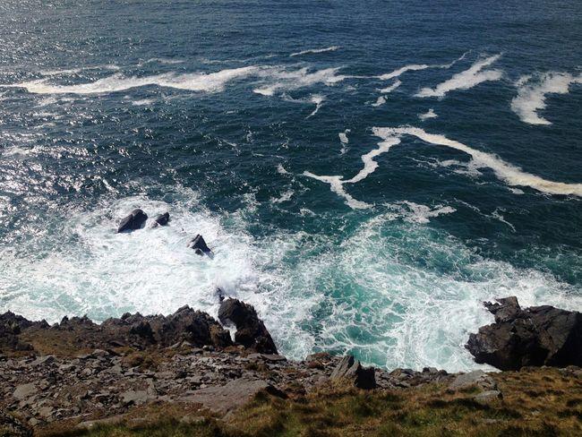 Ireland Gaeltacht Kerry Ireland Wild Atlantic Way The Atlantic Ocean Blue Sky Blue Sea Rocks Water Waves On Rocks