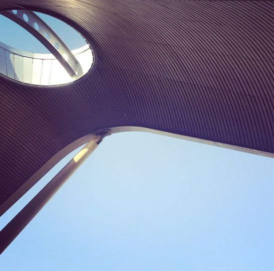 Low Angle View No People Architecture Built Structure Modern Close-up Futuristic Outdoors Building Urbanphotography Urban Geometry Architectural Feature Airport Urban Lookingup Structure Building Exterior Modern Architecture Low Angle View Architecture Futuristic Round Dynamicshape