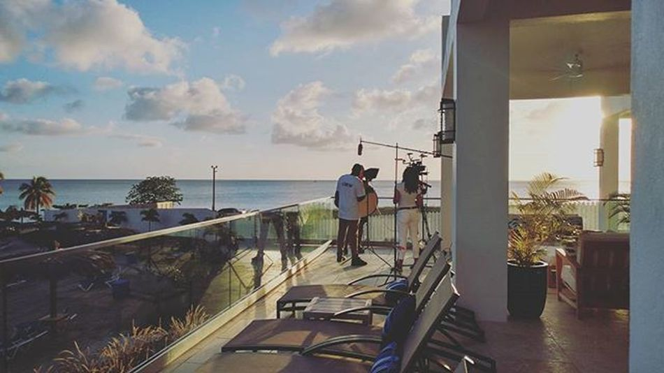 The last shot of the day. Thank you Windjammer Landings for your hospitality and amazing location. Sljaf2016 Officialvideo 25years Production Tvproduction Newseries Sunset Goldenhour Sony 4K Convergentdesign StLucia LGG5