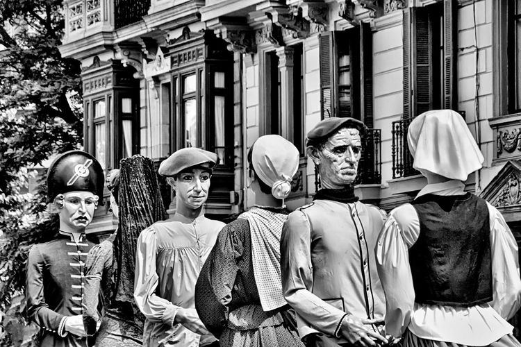 Giant Puppets Street Arts Culture And Entertainment Outdoors City Puppets Black & White Photography Black & White Friday Urban Art Street Art