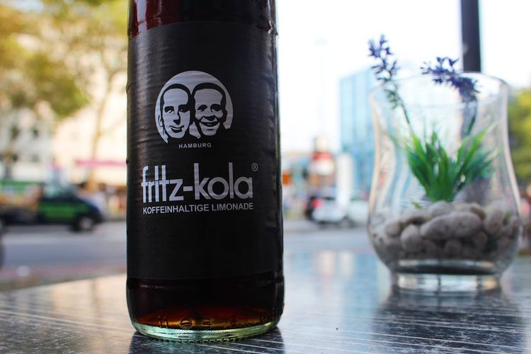Fritz Kola Close-up Day Drink Focus On Foreground Indoors  No People Text