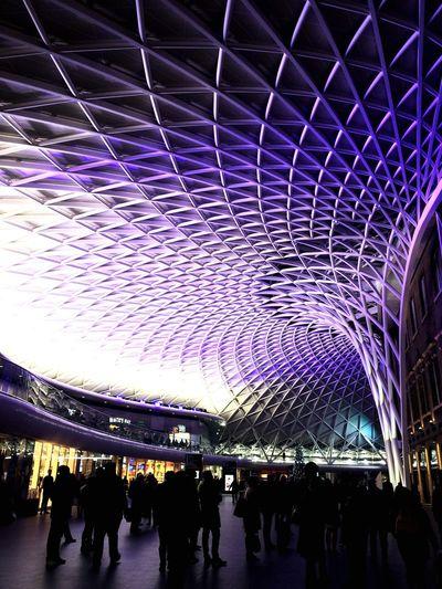 People At London King Cross Railway Station
