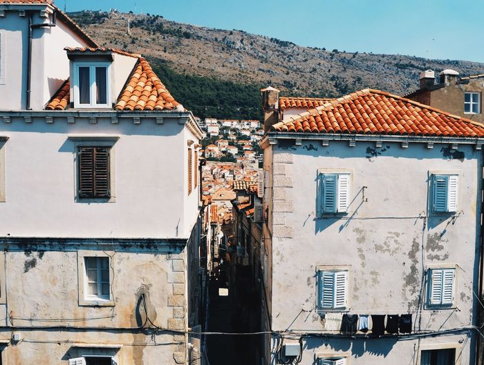 Building Exterior Architecture Built Structure Sky Residential Building House Outdoors No People Day Tiled Roof  Townhouse Architecture Arquitectura Croatia Dubrovnik Dubrovnik, Croatia