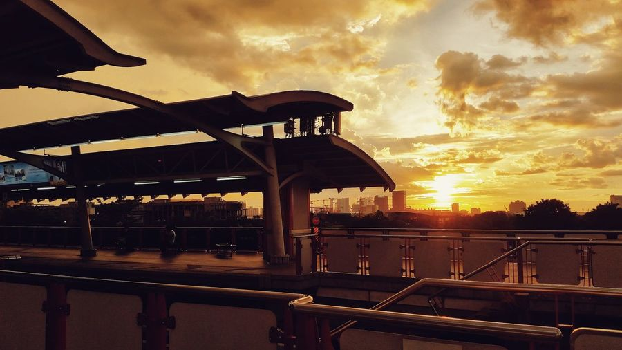 Sunset Sunset_collection Clouds Sky Silhuettes Urban Cityscape City Life Bangkok Train Station The Week On EyeEm
