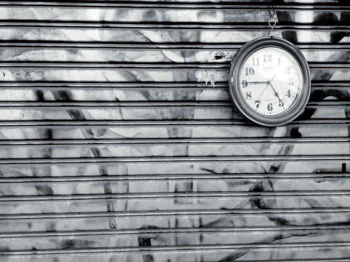 Door Steel Door Watch Watch On The Door Black And White Black And White Photography