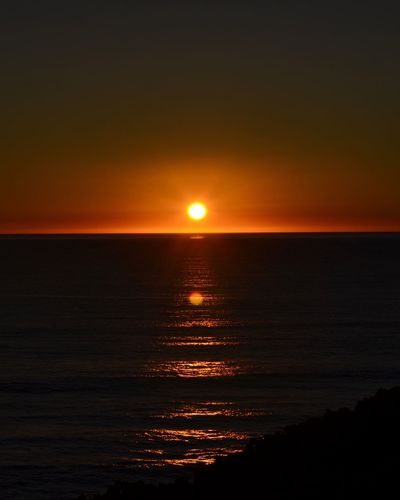 Art Is Everywhere Sunset Sea Scenics Beauty In Nature Nature Tranquil Scene Water Horizon Over Water Tranquility Silhouette Idyllic Majestic Sun Orange Color No People Sky Reflection Outdoors Beach California Eye4photography  EyeEm Gallery EyeEm Best Shots Nature