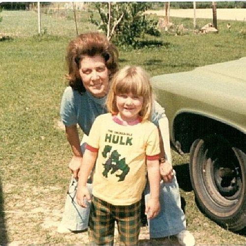 TBT  Throwbackthursday  100daysofhappy Me. My grandmother. Nerdgirlproblems gottalovethe70s hulk
