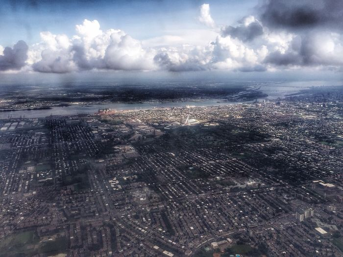 City Cityscape Aerial View Architecture Cloud - Sky High Angle View No People Ebertphotoland River Montreal, Canada Montréal