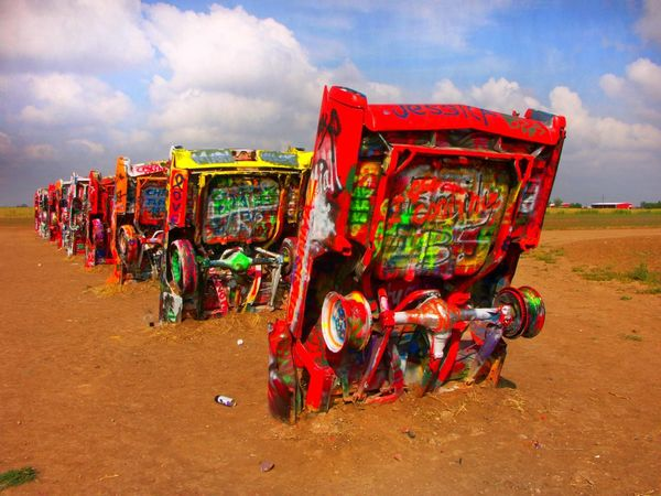 Cadallac Cadallac Ranch Roadside Art Roadside America Roadside Attractions Graffiti Folk Art  EyeEm Best Shots
