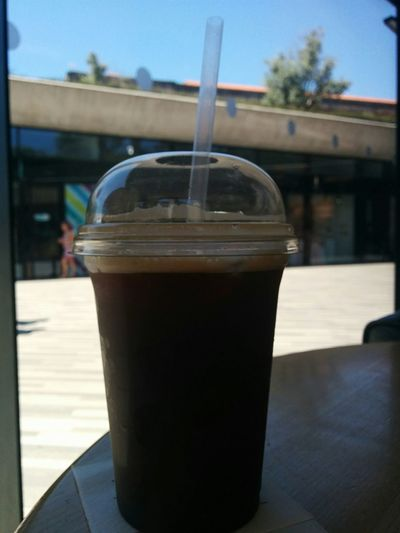 Close-up Coffee Cold Drink Day Drink Drinking Straw Focus On Foreground Food And Drink Freshness No People Outdoors Refreshment