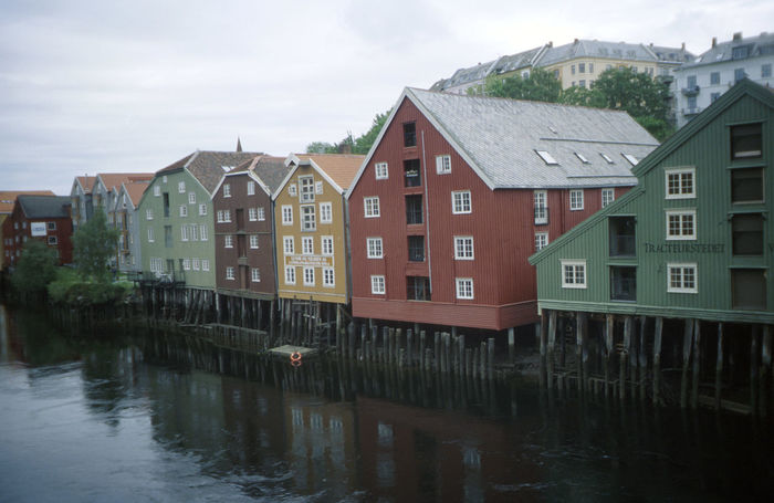 Bergen,Norway Colorfull Fence North Europe Norway Rain Wood Wood Houses Chance
