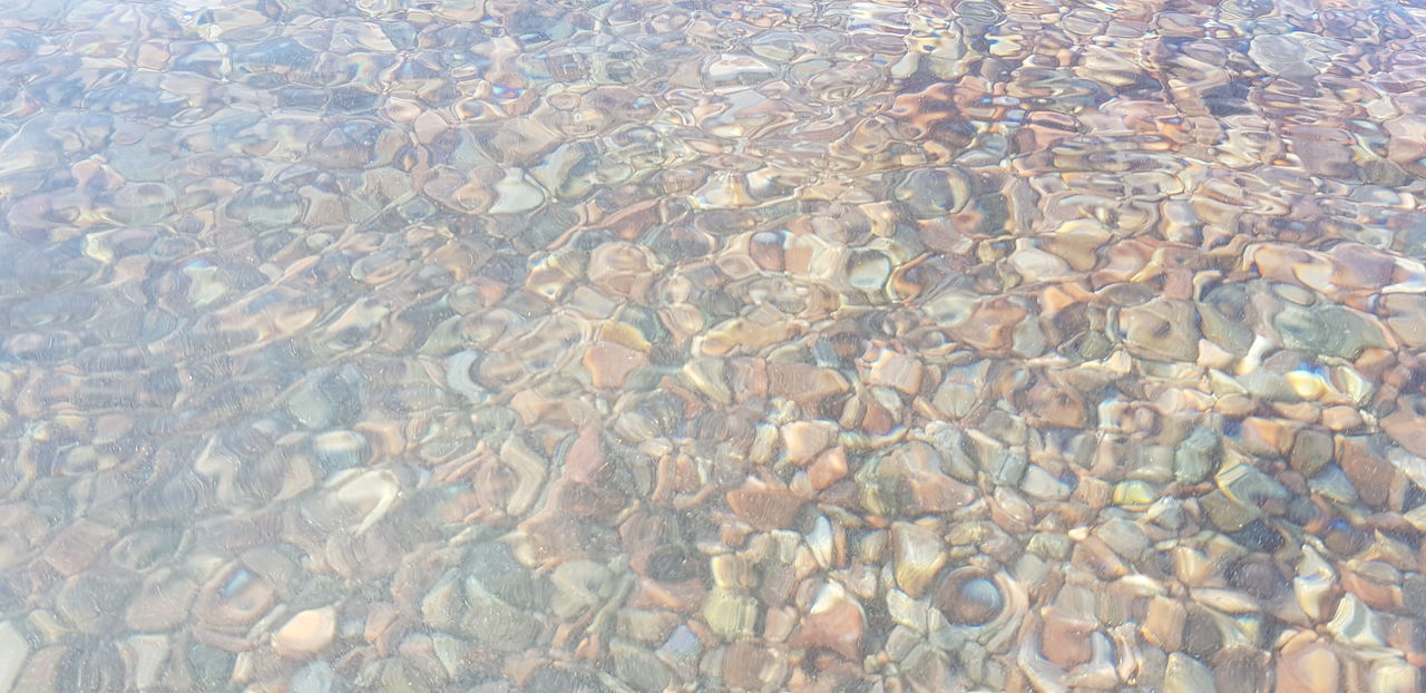 Backgrounds Beauty In Nature Clean Day Full Frame High Angle View Nature No People Outdoors Pattern Pebble Purity Reflection Rippled Sea Shallow Stone - Object Swimming Pool Tranquility Transparent Underwater Water Waterfront