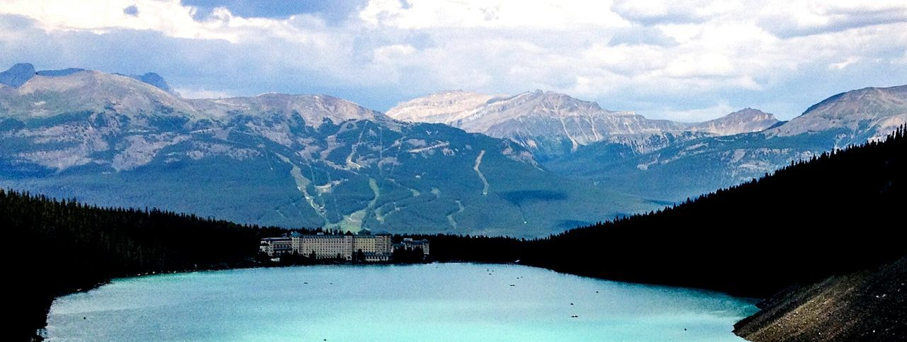 Mountain Scenics Mountain Range Geology Cloud - Sky Lake Louise  Ski Hill Rocky Mountains Pristine Lakes Nature