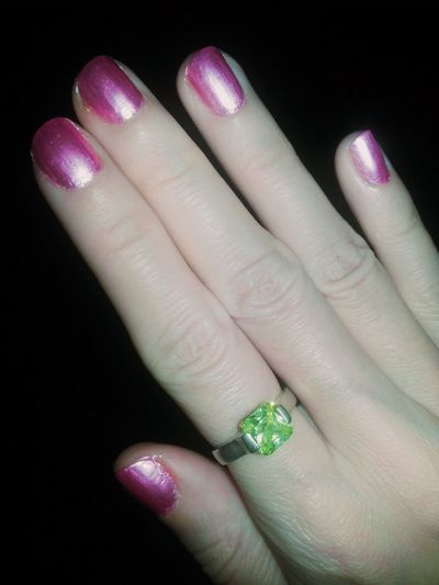 Ring Greenstone and Pinknails