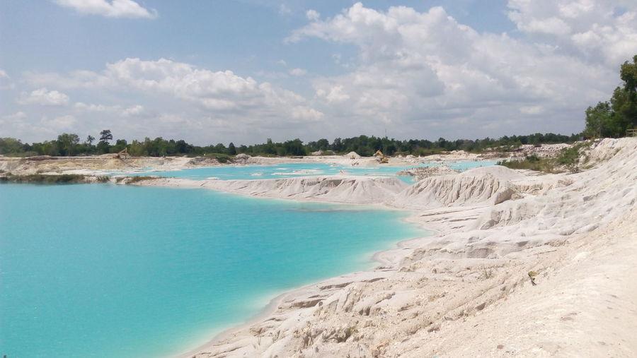 Kaolin Lake, Belitung Belitung Island Kaolin Lake Water Blue Sky Landscape Cloud - Sky Travel Lagoon Island