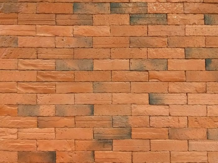 Bricks Wall - Building Feature Brickwall Brickstones Brickporn Bricklane Symetric Symmetrical Symetricphoto Orange Colour Blocks Brick Block