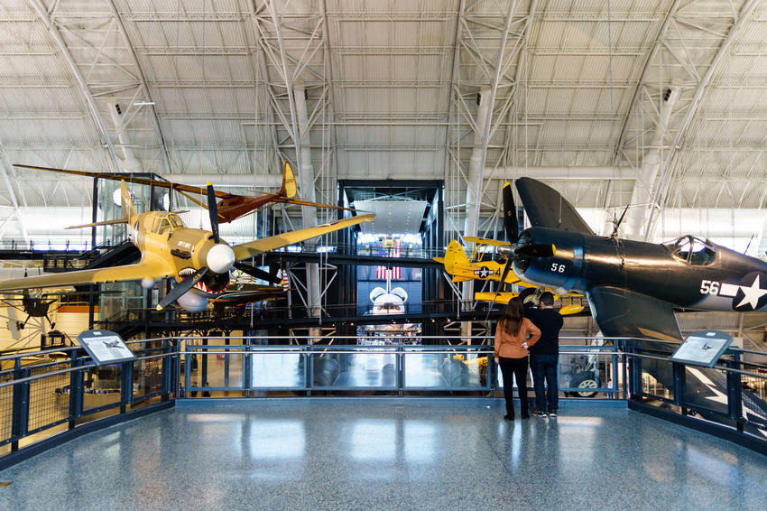 Aerospace Industry Airplane Black Bird Business Finance And Industry Car Plant Day Discovery Efficiency Factory Indoors  Industry Manufacturing No People Occupation Planes Production Line Skill  Smithsonian Space Shuttle Technology USA Virginia Washington Washington, D. C. Working