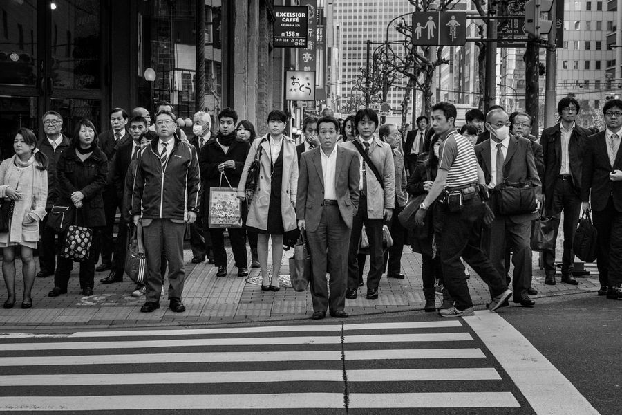 Black & White Black And White Blackandwhite Business Business People Businessman City Life Crosswalk Day Japan Japanese  Japanese Culture Large Group Of Objects Occupation Pedestrian Pedestrian Crossing Pedestrians Shinbashi Street Street Photography Streetphoto_bw Streetphotography Tokyo Japan Photography Ultimate Japan